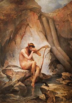 Bild aus der Gemäldesammlung im Tyssedal-Hotel
