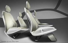 Audi A2 concept Innenraum