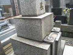 墓石クリーニング前