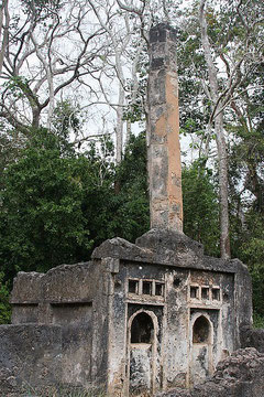 Gede Ruins. The Pillar Tomb.
