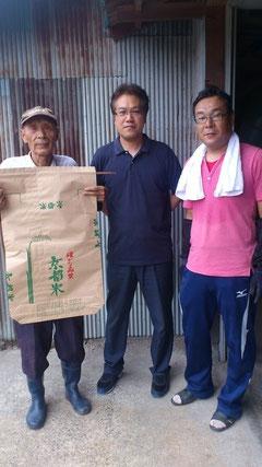 お米農家の武田さん親子と、ぷちトマト店長