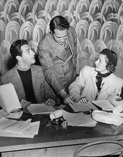 with Robert Taylor and Supervising Director Frank Woodruff