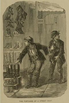 Illustration eines Diebstahls