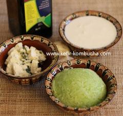 Ingrédients tzatziki au kefir de lait
