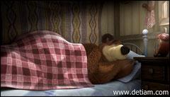 Медведь сладко спит