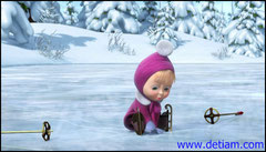 Шлёпнулась Маша на льду