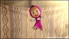 Маша с восторгом прыгала на кровати