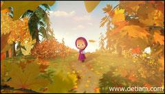Маша бежала по лесной тропинке и напевала