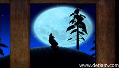 Медведь взглянул в окно - на пригорке сидел волк и выл на луну