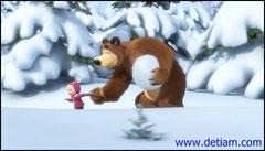 Маша схватила Медведя за лапу и потащила его к новым следам.