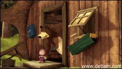 Медведь схватил Машу и выставил за дверь
