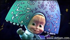 Маша в костюме Снегурочке