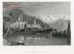 Bartlett/Wallis; Thun und die Alpen um 1839