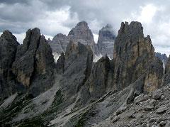 In den Cadini di Misurina, Dolomiten. Wulfens Hauswurz ist allerdings in anderen Regionen der Dolomiten zu finden. Foto: Manuel Werner, alle Rechte vorbehalten!