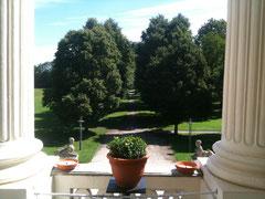 Blick in den Park von Schloss Monaise.