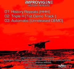 iMPROVIGENE History Repeats 3 Track Single
