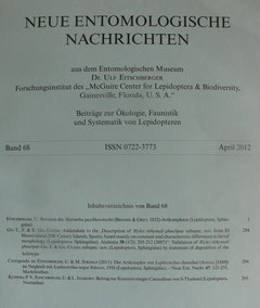 Neue Entomologische Nachrichten, Eitschberger 2012