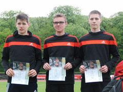 Letztes Jahr Rheinlandmeister der U18 über 3x1000m: Stillger, Lichtenthäler, Wagner