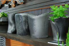 手作り窯変調の花器