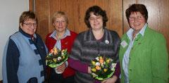 v.l.n.r.: Anette Icken, Margarete Niemann, Kirsten Trapp, Ilsedore Heidmann