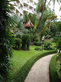 アマリリンカムの中庭の様子