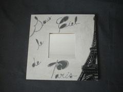 "25x25cm miroir ""Paris"""