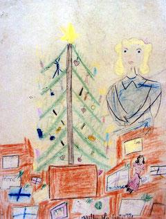 クリスマス・ツリーと少女
