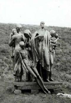 テレジン収容所の犠牲者たちのブロンズ像