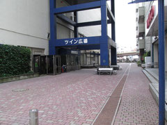 ツイン広場(前日朝の散歩で撮影)