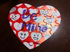 パズルのバレンタインカード