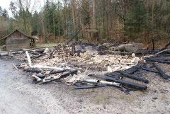 Die Ruine am 25. Dezember