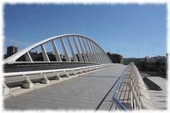 El Puente de la Exposición en Valencia  y la estación de metro constituyen una singular obra de ingeniería diseñada por el ingeniero y arquitecto Santiago Calatrava,
