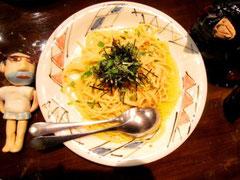 ホヤ塩辛のスパゲティ