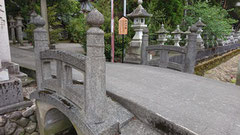 おかげ橋 竹内源造が製作したモルタル製の橋