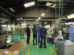5S活動などで、工場内はキレイに整理整頓されている。