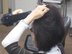 戸田公園駅にある美容室ナガシマの簡単ボリュームアップテクニック1