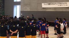 上島コーチのクリニックの様子 ☝画像クリックで拡大