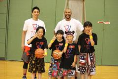 クリニックで満島光太郎選手・田中大地選手と一緒に
