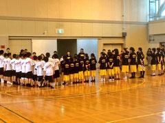 練習試合終了の様子。ありがとうございました。