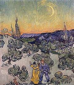 VINCENT VAN GOGH - Passeggiata sotto la luna