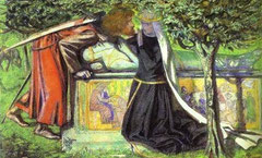 DANTE GABRIEL ROSSETTI - Last Meeting Lancelot and Guinevere 1854