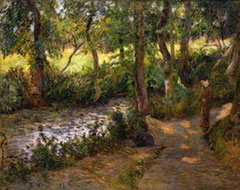 PAUL GAUGUIN - Clovis by a stream