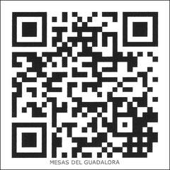"""Código QR de la Web de MESAS DEL GUADALORA. - Puedes visitarnos capturando éste Código QR con tu móvil. - (Haz """"clic"""" en ésta imagen para ampliar)."""
