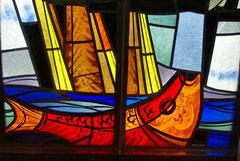Ausschnitt eines Fensters der Christuskirche