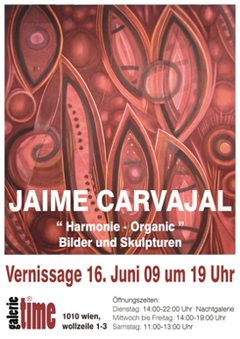 "galerie time Ausstellung Jaime Carvajal  ""Harmonie-Organic"" Bilder & Skulpturen"