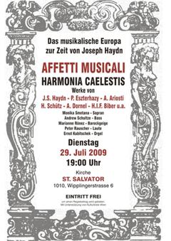 Affetti Musicali Harmonia Caelestis: Dias musikalische Europa zur Zeit von Joseph Haydn