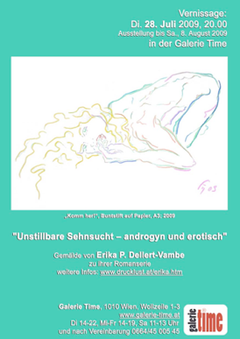 galerie time Ausstellung und Vernissage Erika P. Dellert-Vambe