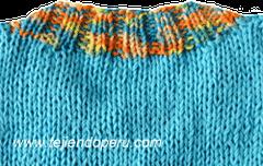 Cómo tejer un cuello redondo en dos agujas o palitos