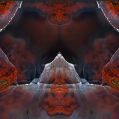 Bild Kunst Art aus Moosachat wie ein Mandala zur Meditation