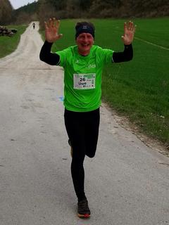Uwe Schmidt bei seinem Fröbellauf auf der 13 km Strecke